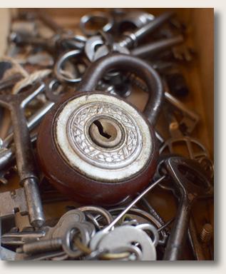Lukko ja avaimia